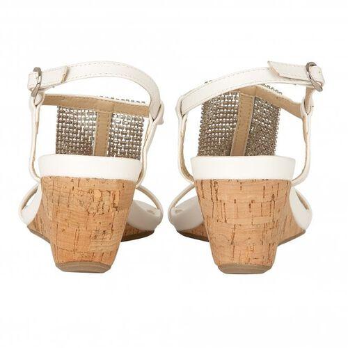Lotus White Klarissa Wedge Open-Toe Sandals (Size 4)
