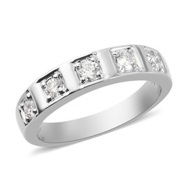 RHAPSODY 950 Platinum IGI CERTIFIED Diamond (VS / E-F) Band Ring 0.330 Ct, Platinum wt 5.85 Gms.