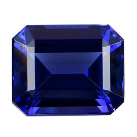 IGI Certified AAAA Tanzanite Emerald Cut 13.6x11.09x7.78mm 10.71 Cts