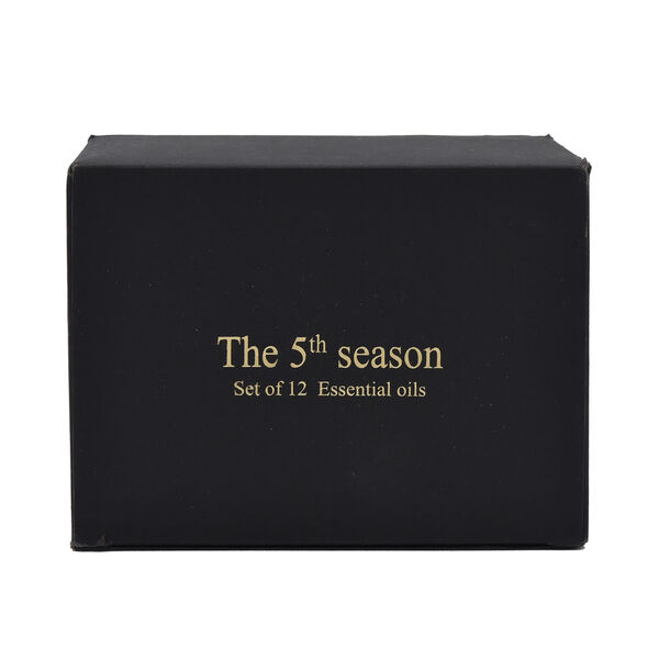 The 5th Season - 12 Piece Fragrance Oils (Vanilla, Ocean, Rose, Lavender, Jasmine, Cinnamon, Lemon Grass, Violet, Freesia, Lily, Lemon, Cherry Blossom) - 10 ml each