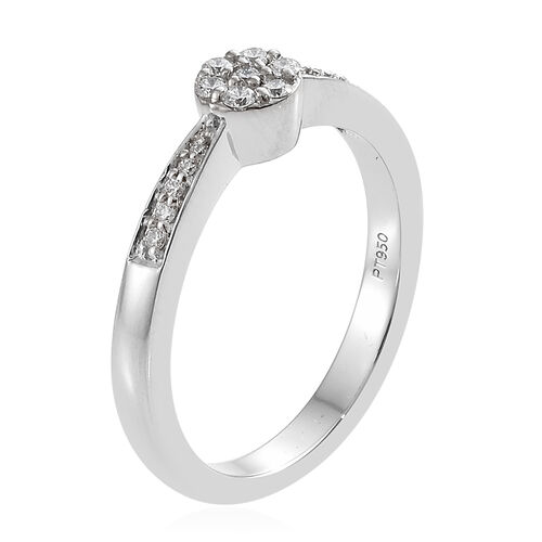 RHAPSODY 950 Platinum IGI Certified Diamond (Rnd) (VS/E-F) Ring 0.200 Ct, Platinum wt 5.63 Gms