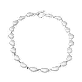 Designer Inspired - Sterling Silver Heart Link Necklace (Size 19.5),