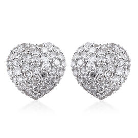 9K Yellow Gold SGL Certified Diamond (Rnd) (I2-I3/G-H) Heart Stud Earrings (with Push Back) 1.000 Ct