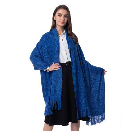 Dark Blue Colour Scarf (Size 200x64 Cm)