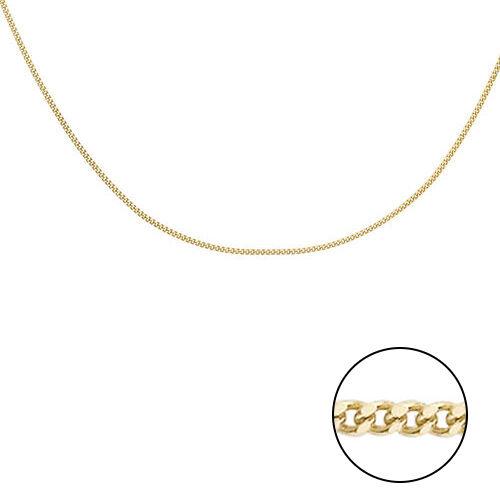 9K Yellow Gold Diamond Cut Curb Chain (Size 16)