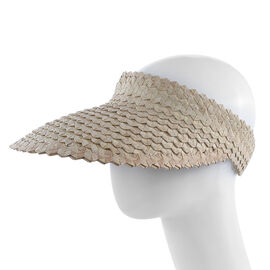 Bali Collection Palm Leaf Woven Hat with Adjustable Back (Size:56x35x50Cm) - White