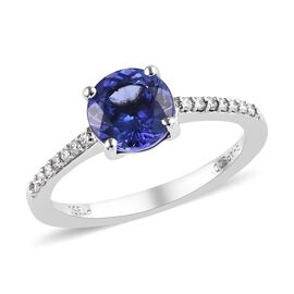 RHAPSODY 950 Platinum AAAA Tanzanite (Rnd), Diamond (VS/E-F) Ring 1.60 Ct.