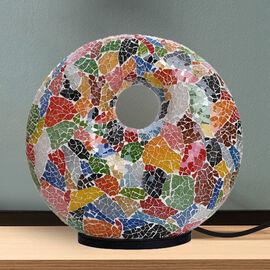 Handmade Mosaic Donut Lamp (Size 30x28x7 Cm) - Multi