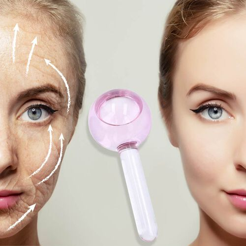 Facial Massage Ice Globes - Light Pink (Duo)
