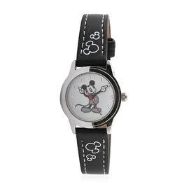 Disney Mickey Mouse Quartz Movement Watch (25mm) with Black  Mickey Strap