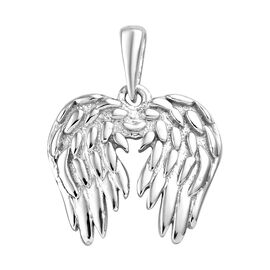 Angel Wing Pendant in Platinum Plated 925 Sterling Silver