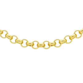 9K Yellow Gold Belcher Necklace (Size 22) with Lobster Clasp,  Gold Wt. 20.60 Gms