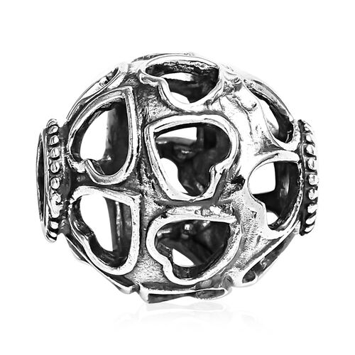 Charmes De Memoire Hearts Design Charm in Platinum Plated Sterling Silver