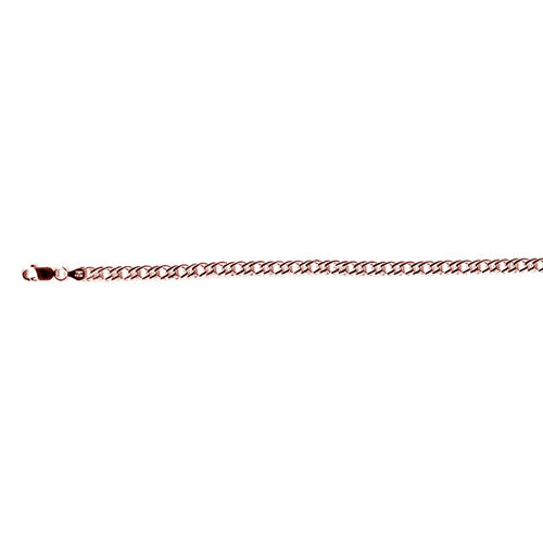 Vicenza Collection Rose Gold Overlay Sterling Silver Rombo Bracelet (Size 7.5), Silver wt 5.49 Gms.
