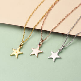 Personalised Initial Star  Pendant with Chain