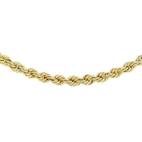 Hatton Garden Close Out Deal - 9K Yellow Gold Rope Chain (Size 18), Gold Wt. 4.00 Gms