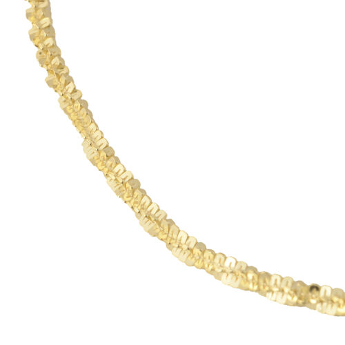 Made in Italy - 14K Gold Overlay Sterling Silver Sparkle Bracelet (Size 7.5)