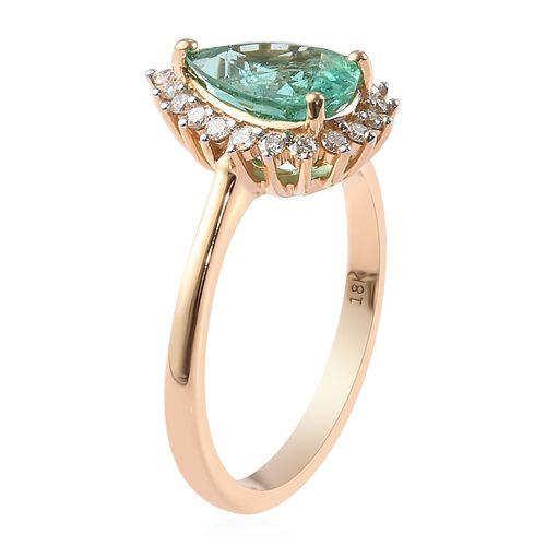 ILIANA 18K Yellow Gold AAA Boyaca Colombian Emerald and Diamond (SI/G-H) Ring 2.20 Ct, Gold wt 4.80 Gms