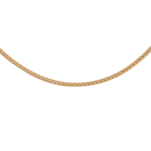 9K Yellow Gold Spiga Chain (Size 24), Gold wt. 3.11 Gms