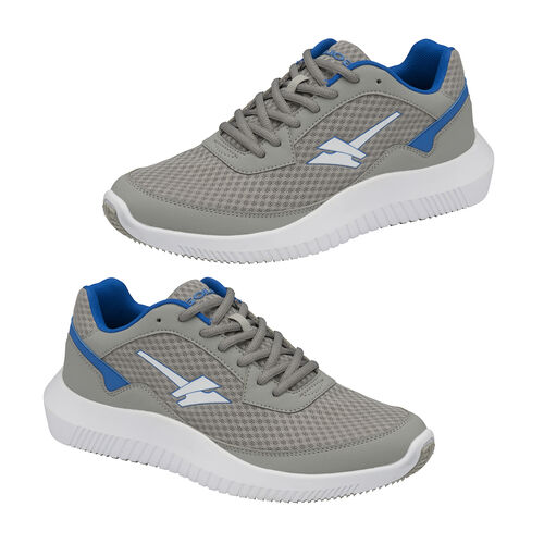 Gola Wexford Lace Up Trainer (Size 9) - Grey and Blue
