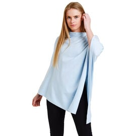 Kris Ana Scatter Poncho One Size (8-20) - Baby Blue