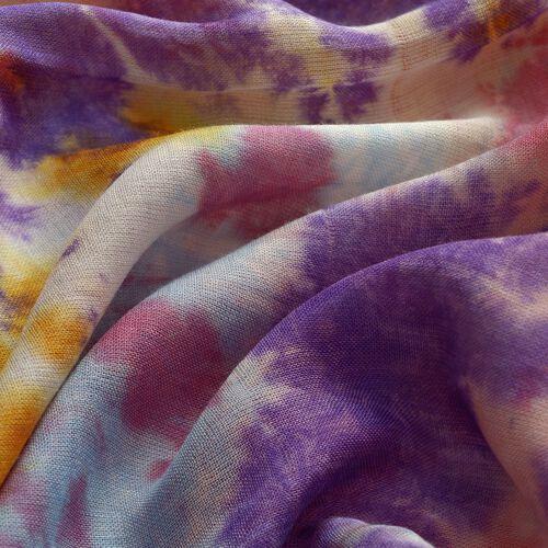 Set of 2 - Multi Colour Printed Scarf (Size 180x50 Cm)