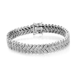 Diamond Tennis Bracelet in Platinum Plated 7.5 Inch
