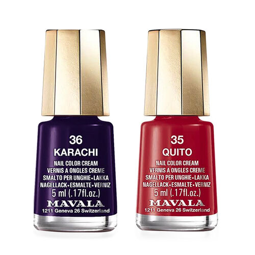 Mavala: Quito - 35 & Karachi - 36 (Duo Mini Colour 2x5ml)