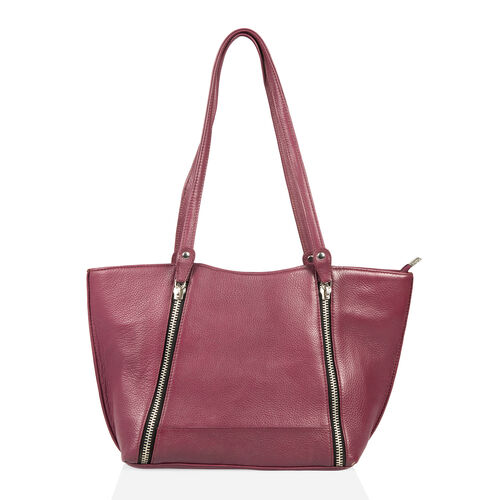 Premium Collection 100% Genuine Leather Burgundy Colour RFID Protected Shoulder Bag (Size 40x23x13 C