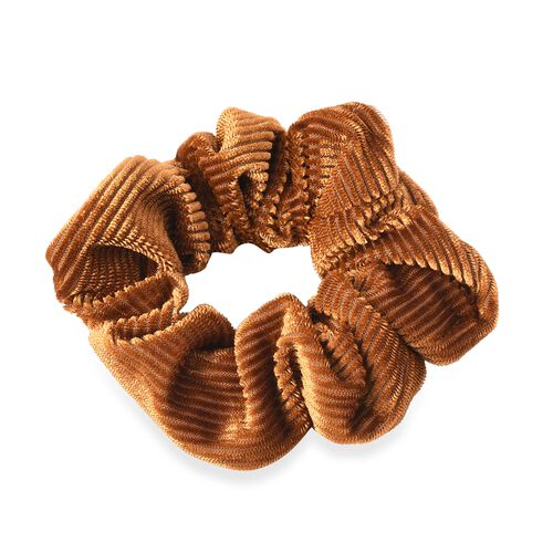 Set of 3 - Elastic Hair Bands (Dia: 9 Cm) - Black, Yellow and Red Wine - Hair Scrunchies