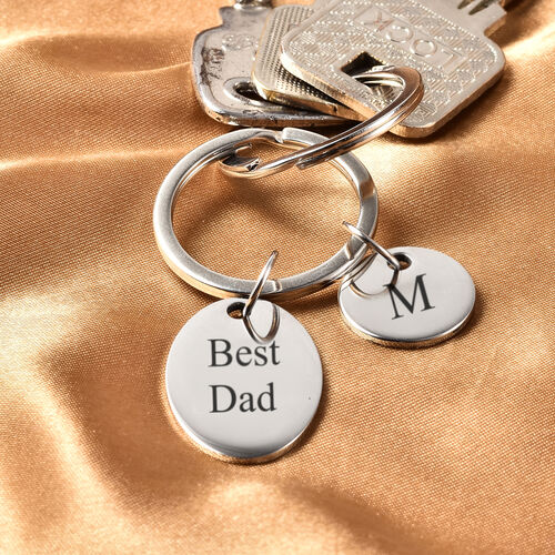 Personalise Engraveable Round & Oval disc Key ring in Stainless Steel
