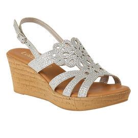 Lotus Silver Glitz Ludisa Wedge Sandals