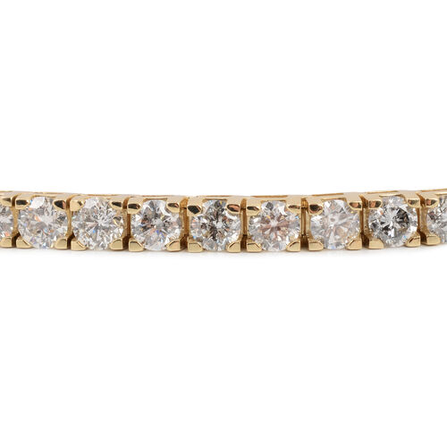 NY Close Out Deal- 14K Yellow Gold EGL Certified Diamond (Rnd) (I1-I2/G-H) Bracelet (Size 8.25) 11.50 Ct, Gold wt 19.85 Gms