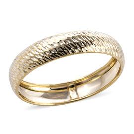Royal Bali Collection - 9K Yellow Gold Diamond Cut Domed Band Ring