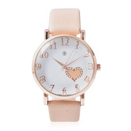 STRADA Japanese Movement Water Resistance Watch in Rose Tone - Nude