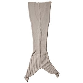 Grey Colour Mermaid Tail Blanket (Size 195x96 Cm)