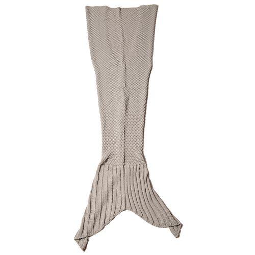 Grey Mermaid Tail Blanket (One Size- Large)