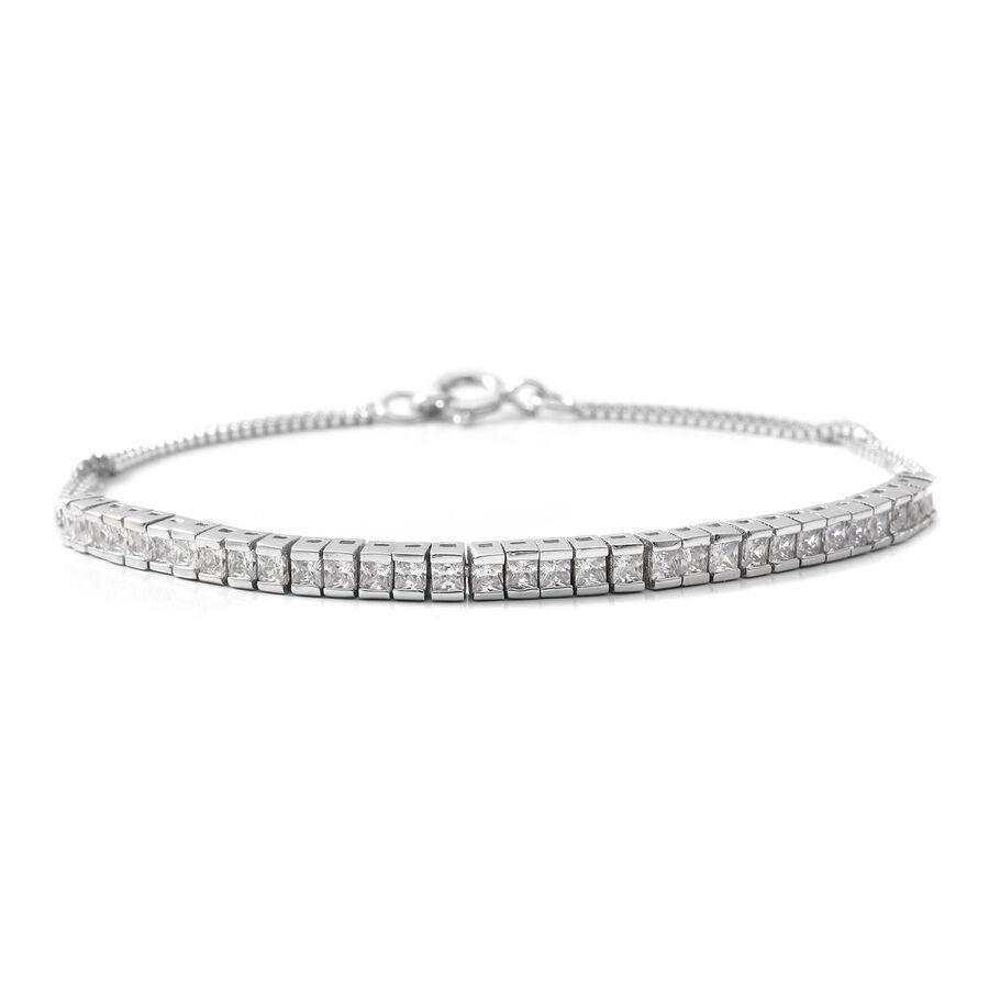 Details about ELANZA Cubic Zirconia CZ 925 Sterling Silver Tennis Bracelet  Size 7 5