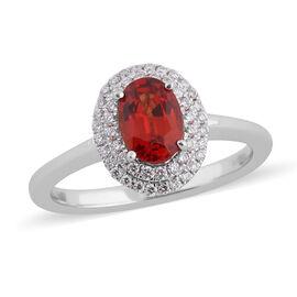 NY Close Out ILIANA 18K White Gold AAAA Songea Sapphire and Diamond Ring 1.31 Ct.
