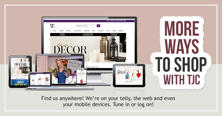 Shop on TV, Desktop, Mobile & iPad at TJC