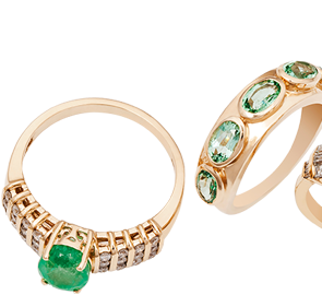 Emerald Rings Online in UK