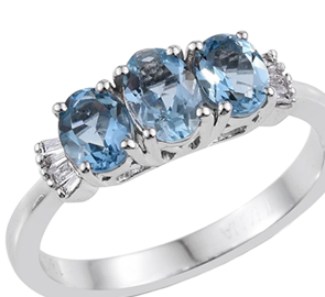Buy Aquamarine Rings Online in UK